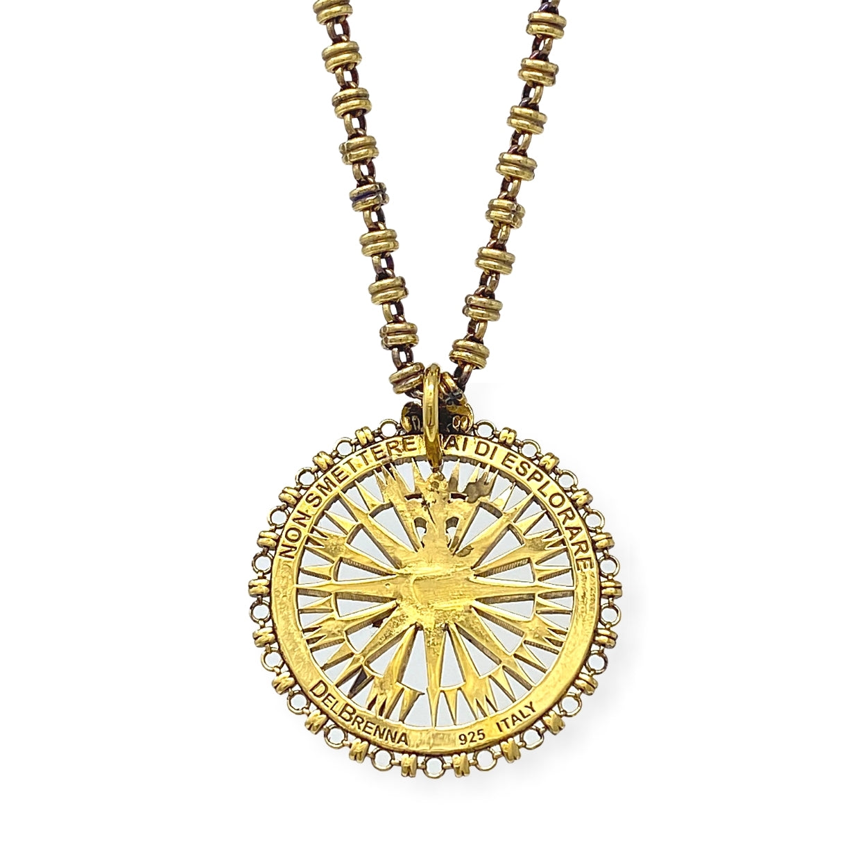 Pendant Guiding Compass Antique Gold