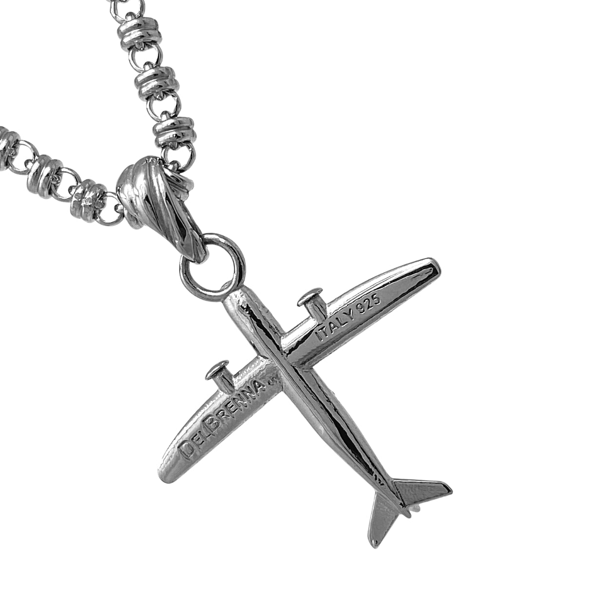 Pendant Small Airplane Rhodium