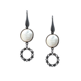 Earrings Botticelli x1 Baroque Pearls x1 Black Rhodium