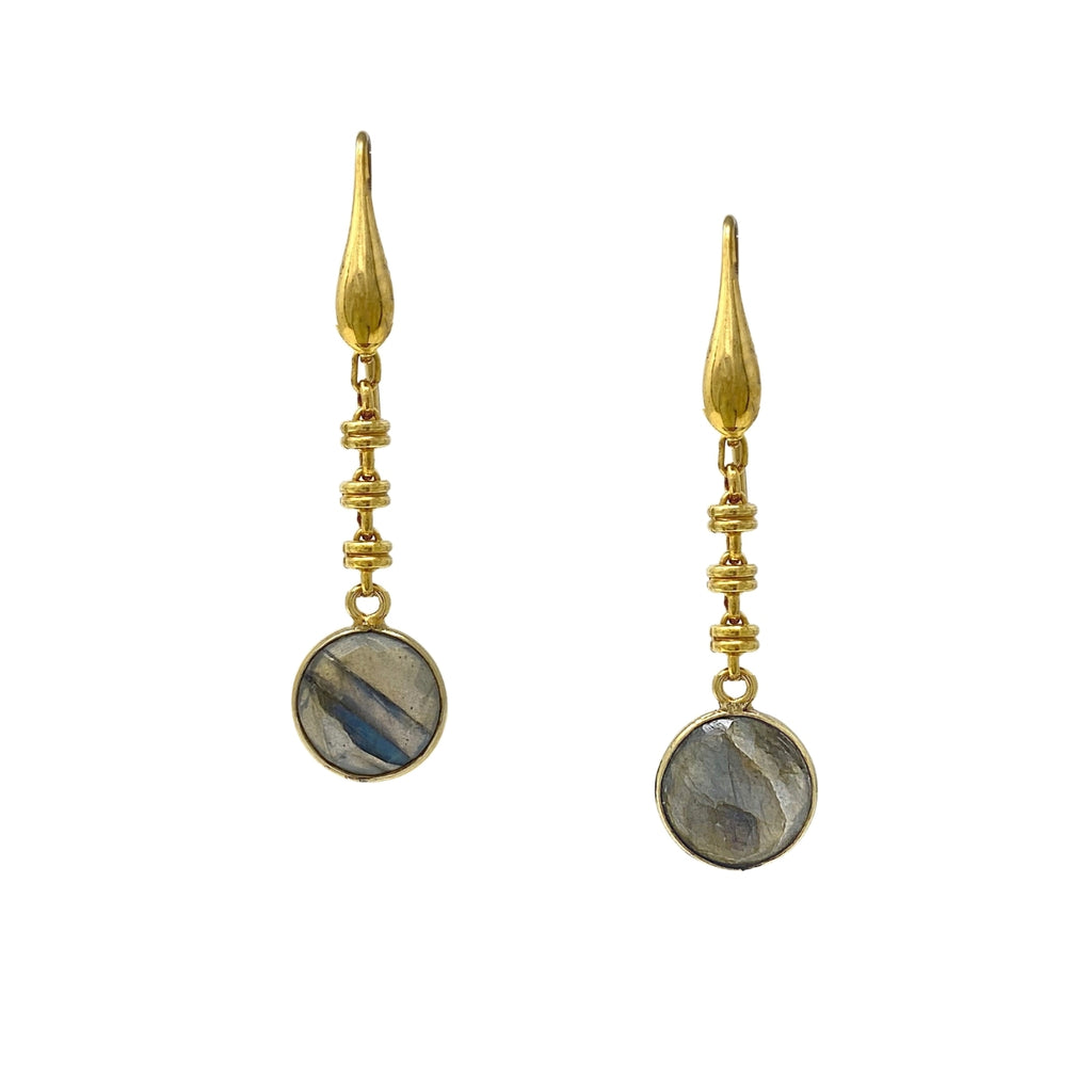 Earrings Chiara Labradorite Antique Gold