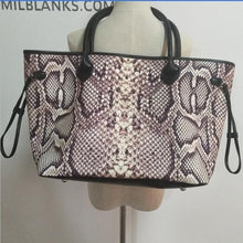 Load image into Gallery viewer, Snakeskin Canvas Large Capacity Tote Bag