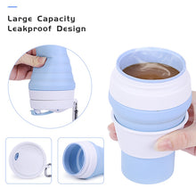Load image into Gallery viewer, Folding Silicone Coffee Travel  Mug 11.8 oz