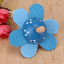 Load image into Gallery viewer, Classic Wooden Flower Spinning Top