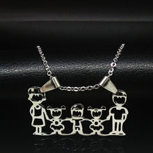 Load image into Gallery viewer, Stainless Steel Family Necklace