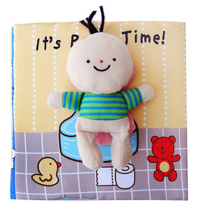 Potty Time and Bath Time Cloth Books with Removable Doll