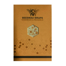 Load image into Gallery viewer, Eco Friendly Organic Beeswax Reusable Cloth Food Wraps Set of 3 S,M,L
