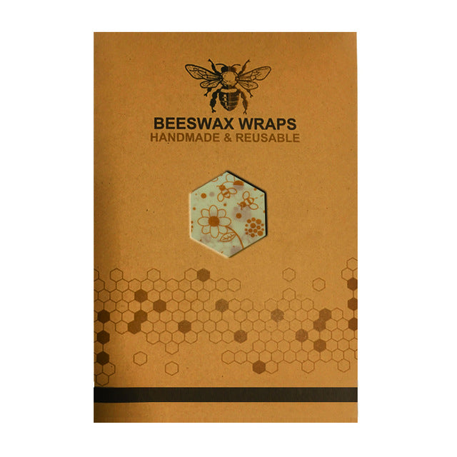 Eco Friendly Organic Beeswax Reusable Cloth Food Wraps Set of 3 S,M,L