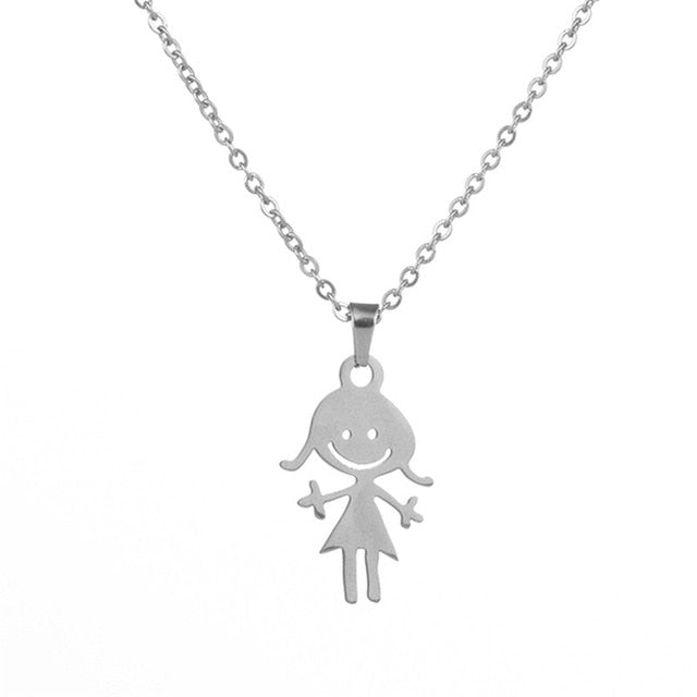 Boy, Girl or Cat Mom Necklace