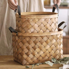 Load image into Gallery viewer, Handmade Bamboo Weave Basket