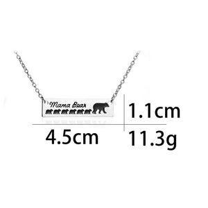 Mama Bear and Baby-Babies Necklace