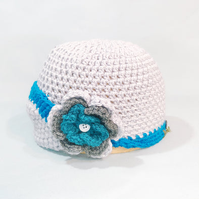 Grey & turquoise cloche
