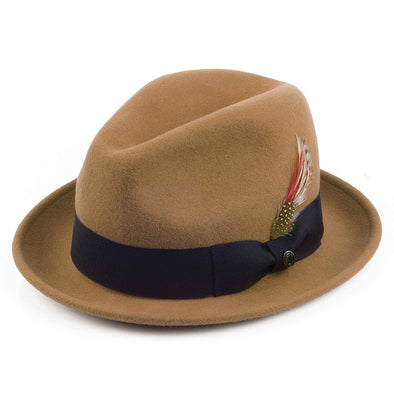 Crushable caramel trilby