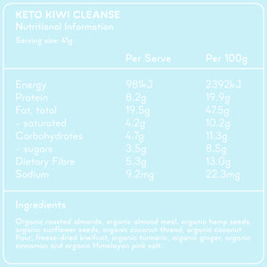 KETO KIWI CLEANSE Superfood Breakfast Pouches