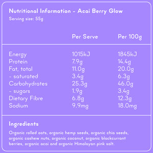 ACAI BERRY GLOW Superfood Breakfast Pouches