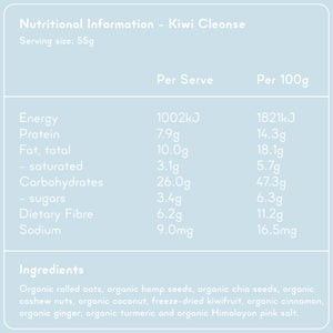 KIWI CLEANSE Superfood Breakfast Pouches