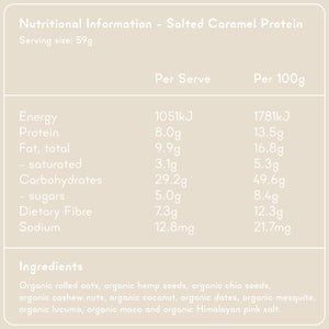SALTED CARAMEL PROTEIN Superfood Breakfast Pouches