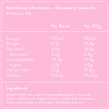 Load image into Gallery viewer, STRAWBERRY IMMUNITY Superfood Breakfast Pouches