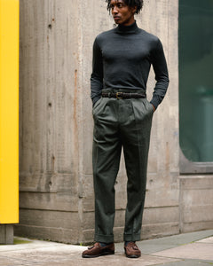 Charcoal Merino roll neck