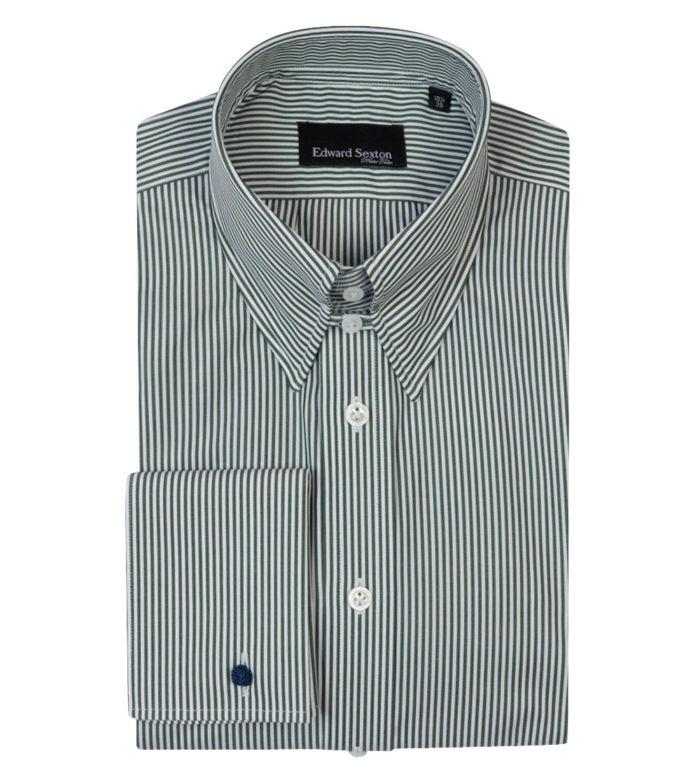 Made to Order Forest Green Bengal Stripe Shirt