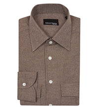 Load image into Gallery viewer, Taupe brushed cotton overshirt