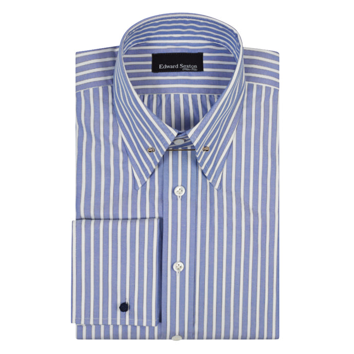 Made to Order Blue Butcher's Stripe Shirt