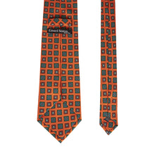 Load image into Gallery viewer, Burnt Orange Floral Geometric Tie