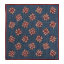 Load image into Gallery viewer, Navy Floral Wool Hankie