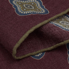 Load image into Gallery viewer, Claret Floral Wool Hankie