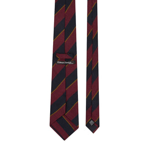 Red, Midnight and Gold Stripe Tie