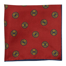 Load image into Gallery viewer, Cherry Silk Octagonal Print Hankie
