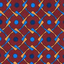 Load image into Gallery viewer, Claret Geometric Tie