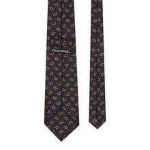 Load image into Gallery viewer, Navy and Orange Paisley Tie