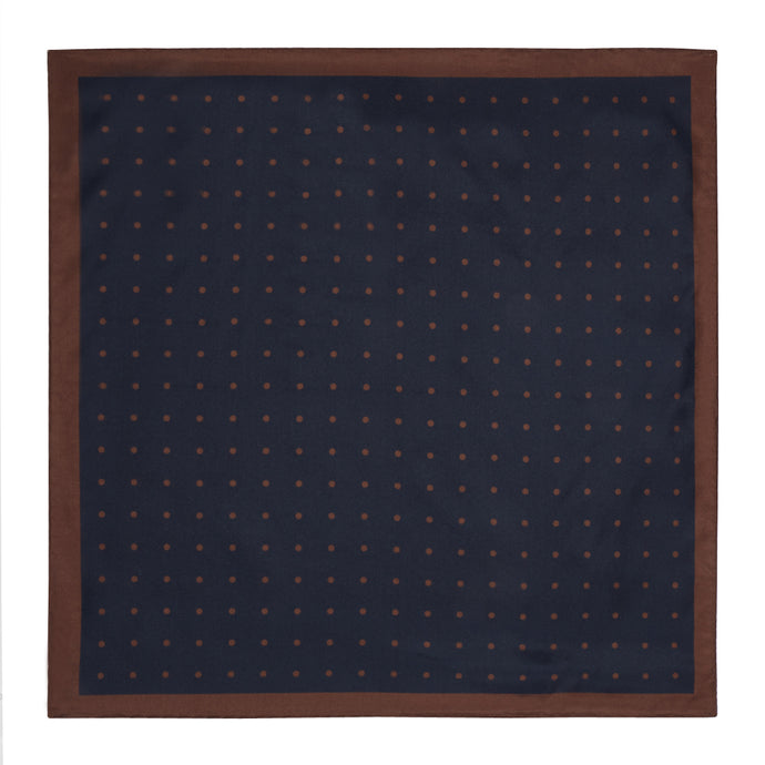 Navy with Brown Spots Hankie