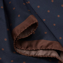 Load image into Gallery viewer, Navy with Brown Spots Hankie
