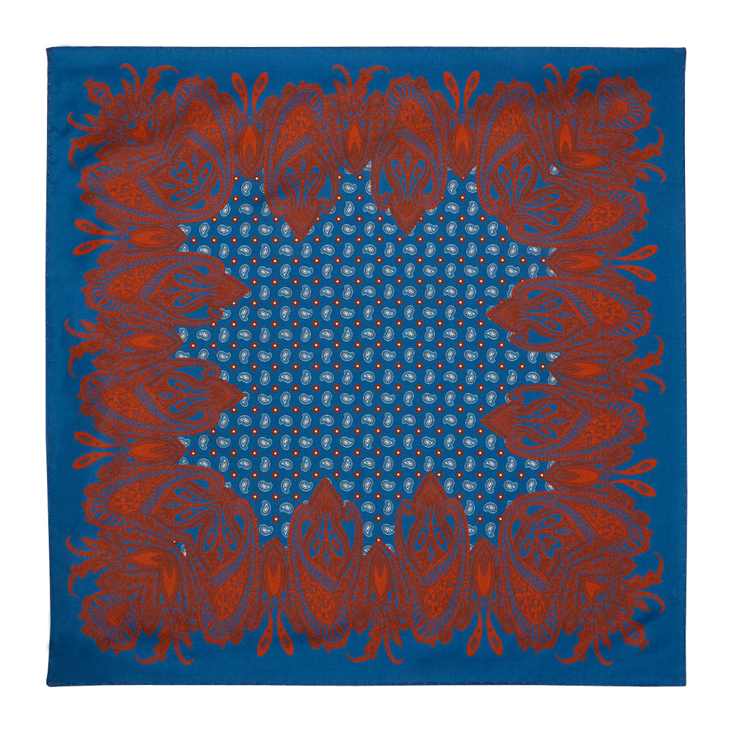 Blue and Red Pasiley Hankie