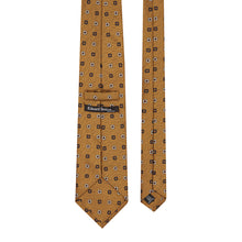 Load image into Gallery viewer, Bronze Geometric Print Tie
