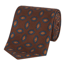 Load image into Gallery viewer, Brown and Orange Paisley Tie