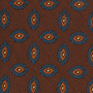 Brown and Orange Paisley Tie