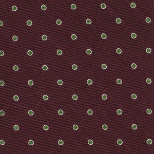 Burgundy with Green Spots Tie