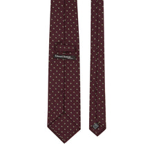Load image into Gallery viewer, Burgundy with Green Spots Tie