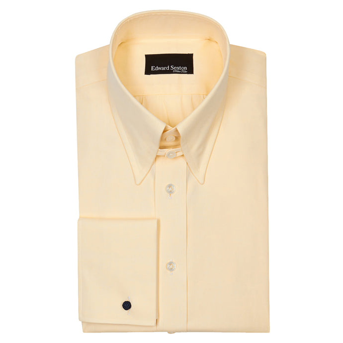 Yellow Cotton Tab Collar Shirt