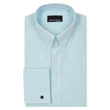 Load image into Gallery viewer, Turquoise Micro-check Cotton Tab Collar Shirt