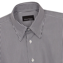Load image into Gallery viewer, Black Bengal Stripe Cotton Hidden Button Down Shirt