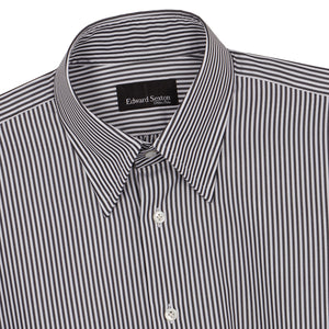 Black Bengal Stripe Cotton Hidden Button Down Shirt