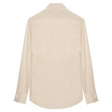 Load image into Gallery viewer, Cream Silk Shirt with Point Collar