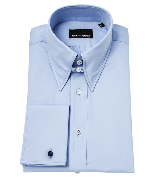 Powder Blue Tab Collar Regular-Fit Shirt