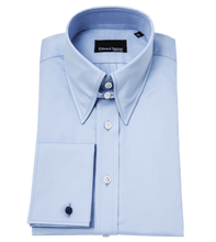 Load image into Gallery viewer, Blue-tab-collar-shirt