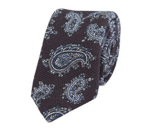 Load image into Gallery viewer, Burgundy_navy_paisly_tie
