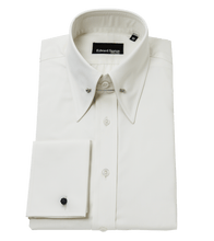 Load image into Gallery viewer, Edward-Sexton-cream-pin-collar-shirt
