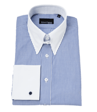 Load image into Gallery viewer, Edward-sexton-bengal-tab-collar-shirt-white